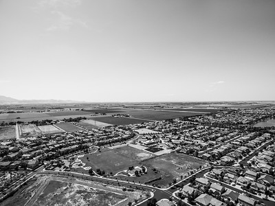 Aerial Scenery. Slifer Park (foreground) & Timber Point School (slight right from center). Discovery Bay, CA, USA