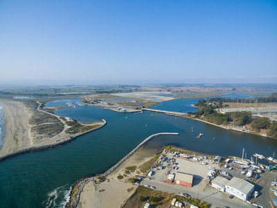 Aerial Scenery. Elkhorn Slough & SR-1. Moss Landing, CA, USA  Also in the photo: Left: Elkhorn Yacht Club (in the distance) Right: Old Salinas River