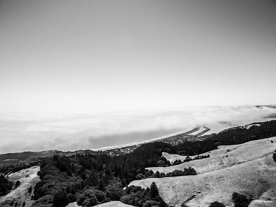Aerial Scenery. Stinson Beach. Mt. Tamalpais State Park - Marin County, CA, USA