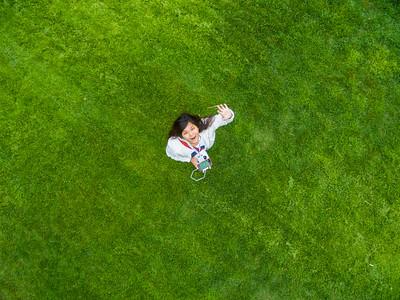 Aerial Selfie. Hansen Park - Pleasanton, CA, USA