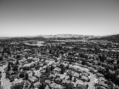 Aerial Scenery. Pleasanton, CA, USA   Also in this photo in the distance on the left is Pleasanton Golf Center.