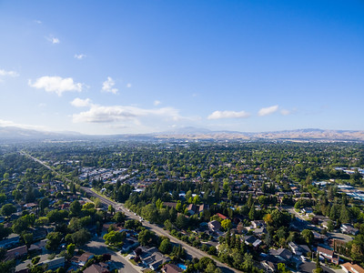 Aerial Scenery. Pleasanton, CA, USA