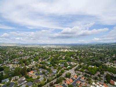 Aerial Scenery. Pleasanton, CA, USA