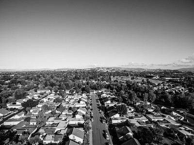 Aerial Scenery. In the distance on the right is Pleasanton Golf Center. Pleasanton, CA, USA