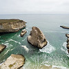 Aerial Scenery. Shark Fin Cove - Davenport, CA, USA<br /> <br /> The beach is also known as Shark Tooth Cove, Shark Tooth Beach, Shark Fin Beach, and Davenport Cove.