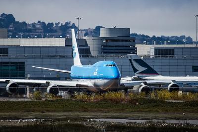 KLM 747 at SFO