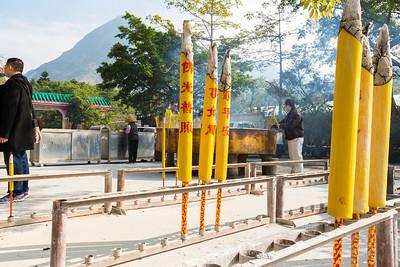 Giant Incense. Po Lin Monastery (宝莲禅寺) - Hong Kong, China S.A.R. (香港特区)