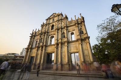 Sunset. Ruins of St. Paul's - Macau, China S.A.R (澳门特区)