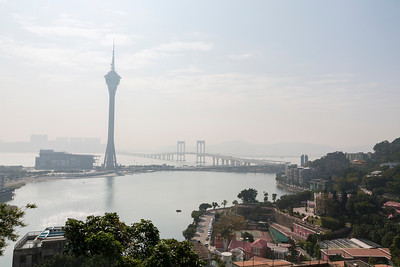 Macau Tower (Left). Penha Hill - Macau, China S.A.R (澳门特区)