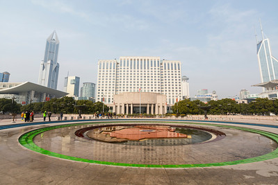 People's Square and People's Park area - Shanghai, China (上海,中国)