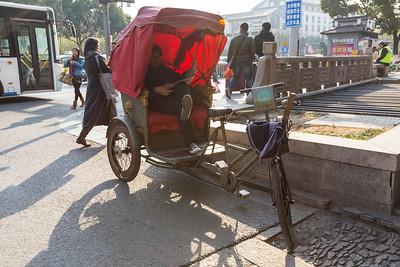 Rickshaw. Ping Jiang Road (平江路) - Suzhou, Jiangsu, China (苏州,江苏,中国)