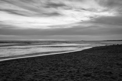 Sunset. Waddell Beach. Big Basin State Park, CA, USA