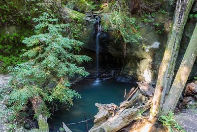 Sempervirens Falls. Big Basin State Park - Boulder Creek, CA, USA