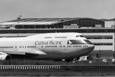 Cathay Pacific 747-400 At SFO