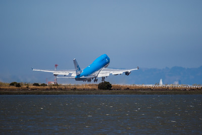 KLM 747 Taking Off at SFO