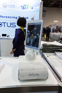 OTUS Video Conferencing Robot. Consumer Electronics Show (CES) 2015 - Las Vegas, NV, USA