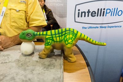 Robotic Toy Dinosaur. Consumer Electronics Show (CES) 2015 - Las Vegas, NV, USA