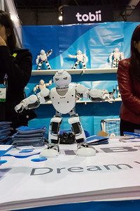 Robots from UBTECH. Consumer Electronics Show (CES) 2015 - Las Vegas, NV, USA