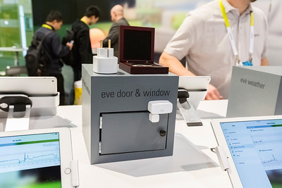 Eve home sensors by Elgato. Consumer Electronics Show (CES) 2015 - Las Vegas, NV, USA