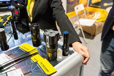 Nitecore Flashlights. Consumer Electronics Show (CES) 2015 - Las Vegas, NV, USA