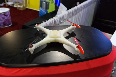 3D Printed model of a quadcopter/drone. Consumer Electronics Show (CES) 2015 - Las Vegas, NV, USA