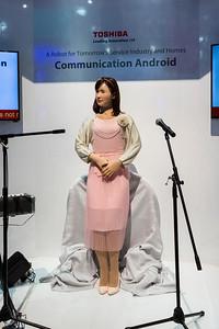 Toshiba's Communication Android (Humanoid Robot). Consumer Electronics Show (CES) 2015 - Las Vegas, NV, USA