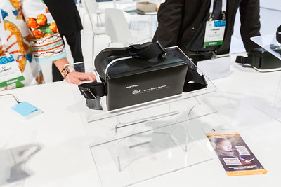 Virtual Reality Headset. Consumer Electronics Show (CES) 2015 - Las Vegas, NV, USA