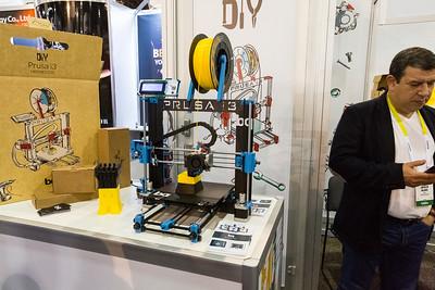 Prusa i3 3D Printer. Consumer Electronics Show (CES) 2015 - Las Vegas, NV, USA