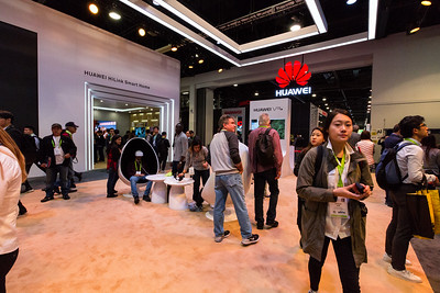 Huawei Booth. Consumer Electronics Show (CES) 2018 - Las Vegas, NV, USA