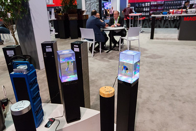 Aquarium Speakers. Consumer Electronics Show (CES) 2018 - Las Vegas, NV, USA