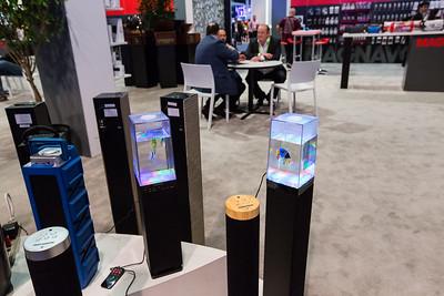 Aquarium Speakers. Consumer Electronics Show (CES) 2018 - Las Vegas, NV, USA