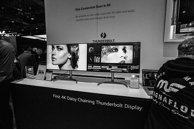 Thunderbolt Display. Consumer Electronics Show (CES) 2018 - Las Vegas, NV, USA