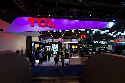 TCL Booth. Consumer Electronics Show (CES) 2018 - Las Vegas, NV, USA
