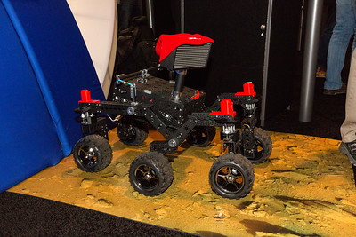 Model of a NASA Rover. NASA Booth. Consumer Electronics Show (CES) 2018 - Las Vegas, NV, USA  I'm guessing they are going to send this to Mars.