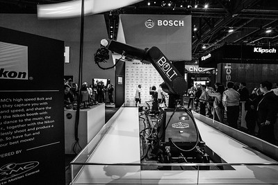 Bolt High Speed Cinebot. Nikon Booth. Consumer Electronics Show (CES) 2018 - Las Vegas, NV, USA