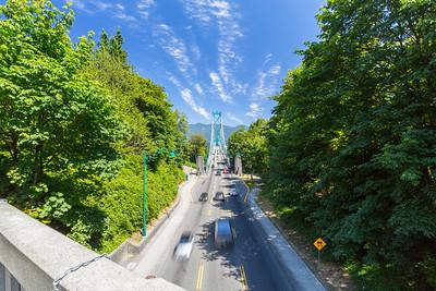 Lions Gate Bridge. Stanley Park - Vancouver, BC, Canada