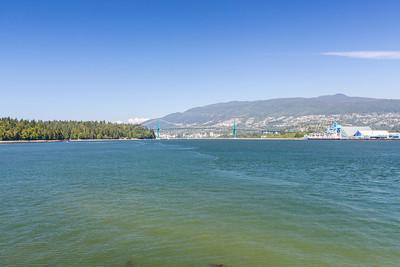 Lions Gate Bridge. Brockton Point Lighthouse. Stanley Park - Vancouver, BC, Canada