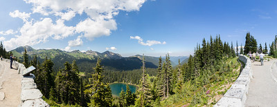 Panorama. Sunrise Lake Area. Mount Rainier National Park - Washington, USA