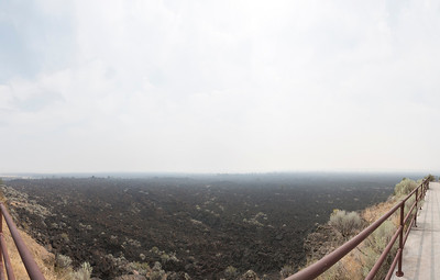 Panorama. Devil's Homestead Flow. Lava Beds National Monument - Tulelake, CA, USA