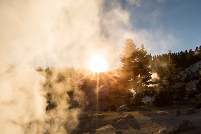 Sunset. Bumpass Hell. Lassen Volcanic National Park - California, USA