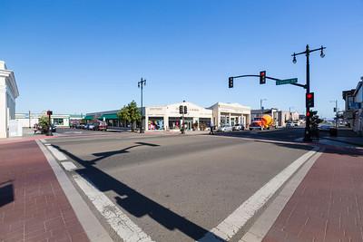 Downtown. Fort Bragg, CA, USA