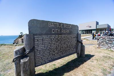 Battle Rock City Park. Port Orford, CA, USA