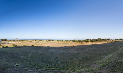 Panorama. Gold Beach Resort and South Beach Park. Gold Beach, OR, USA