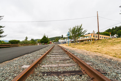 Railroad Tracks. Wheeler, OR, USA