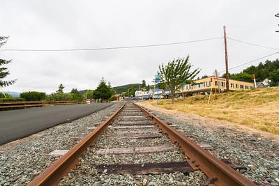 Railroad Tracks. Wheeler, OR, USA