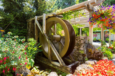 Waterwheel Square. Butchart Gardens - Brentwood Bay, BC, Canada