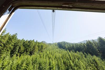 Gondola Ride. Grouse Mountain - North Vancouver, BC, Canada