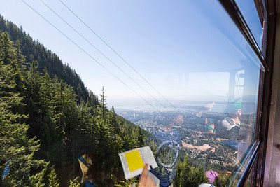 Gondola Ride. Grouse Mountain - North Vancouver, BC, Canada