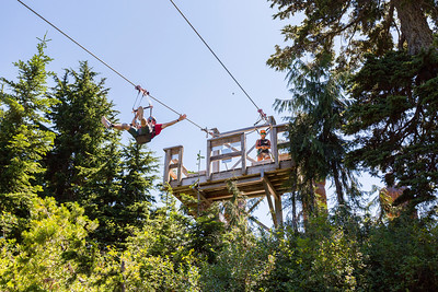 Zipline. Grouse Mountain - North Vancouver, BC, Canada