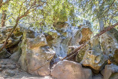 HDR Composition. Castle Rock State Park - California, USA